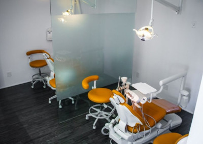 Esthetic Dental Suite with state of the art ADEC dental chairs.